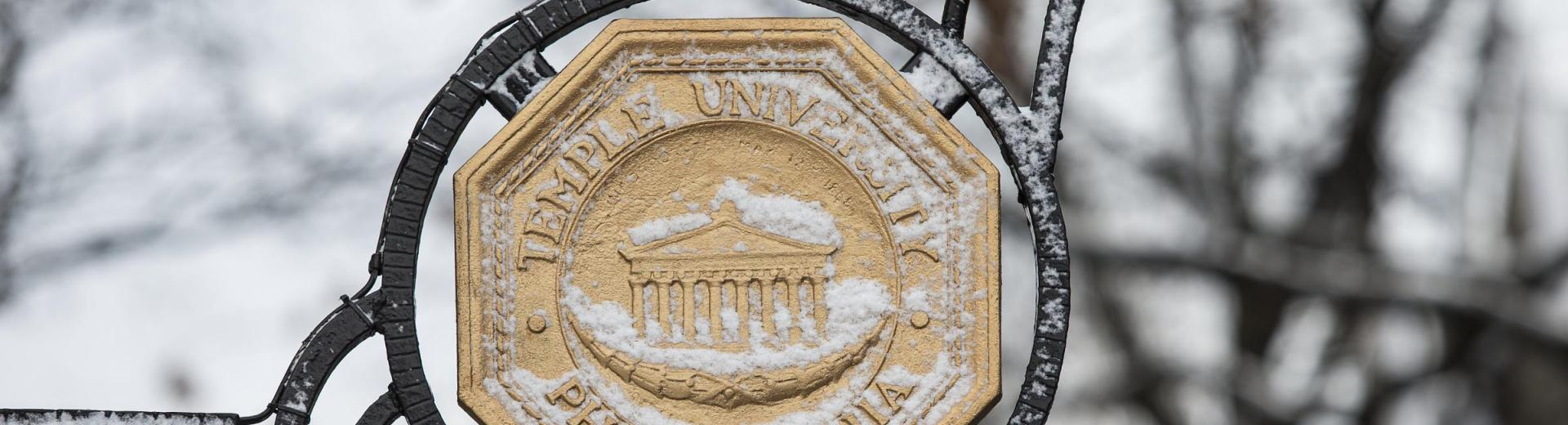 Temple Medallion in Snow