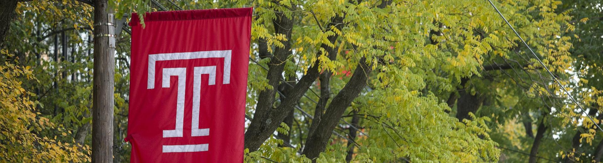 Temple Flag in Fall